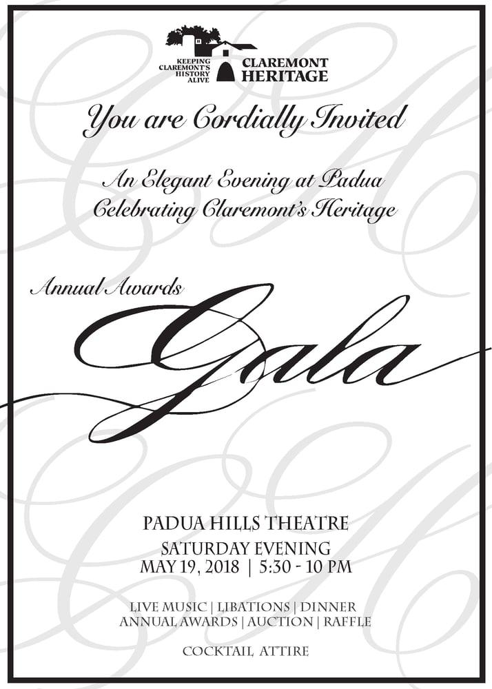 Image of 2018 Annual Awards Gala Saturday May 19th