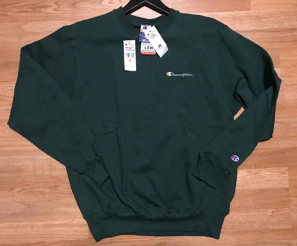 Image of Vintage Deadstock Champion Sweatshirt Forest Green