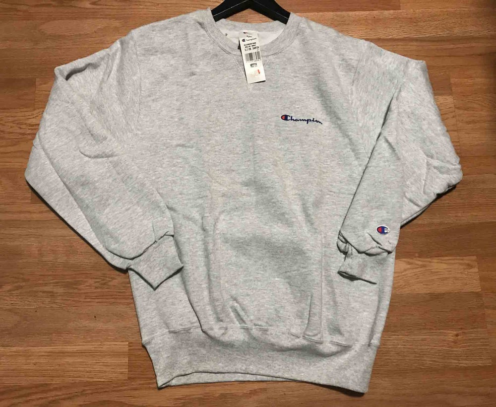 Image of Vintage Deadstock Champion Crewneck Sweatshirt Gray