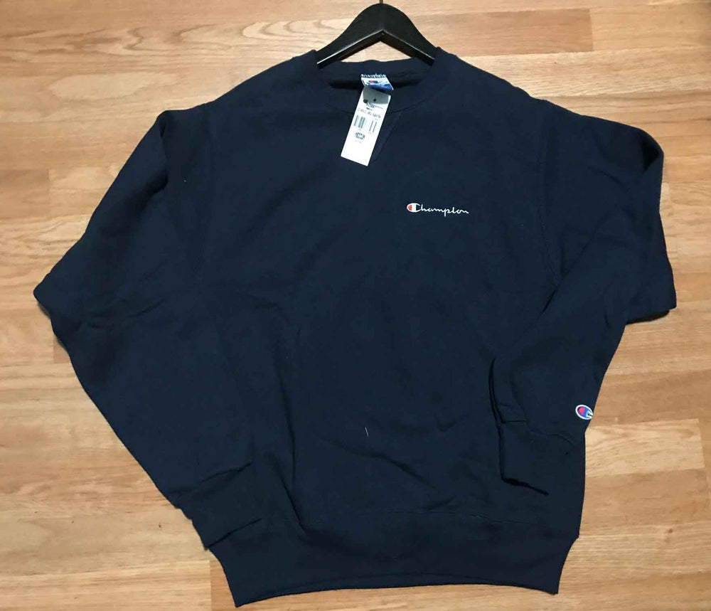 Image of Vintage Deadstock Champion Crewneck Sweatshirt Navy Blue