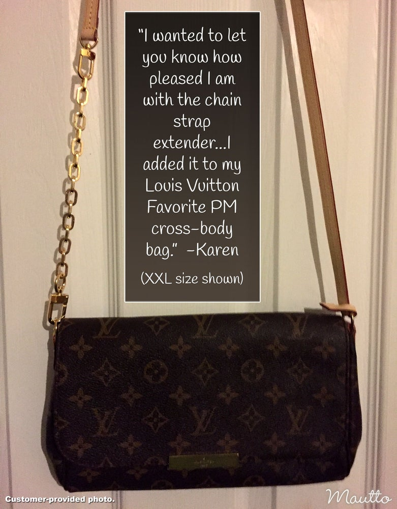 Image of Chain Strap Extender Accessory for Louis Vuitton & More - Elongated Box Chain with #16C LG Hook