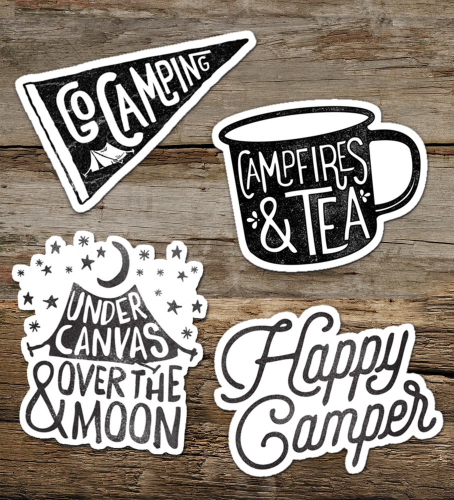 Image of CAMPING vinyl sticker pack