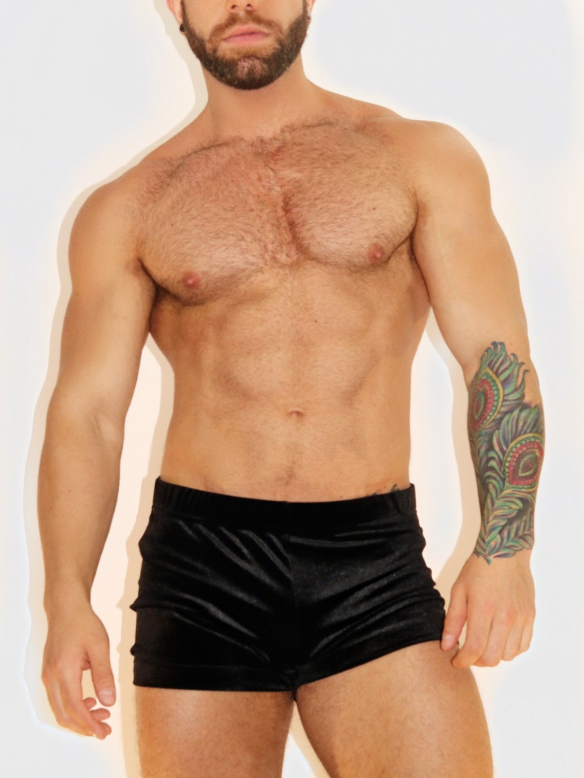 Image of VELVET FETISH SHORTS