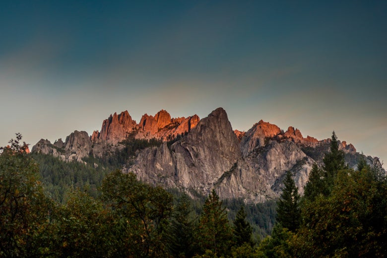 Image of Jacob Raab Limited Edition Fine Art Print :: Castle Crags Sunset