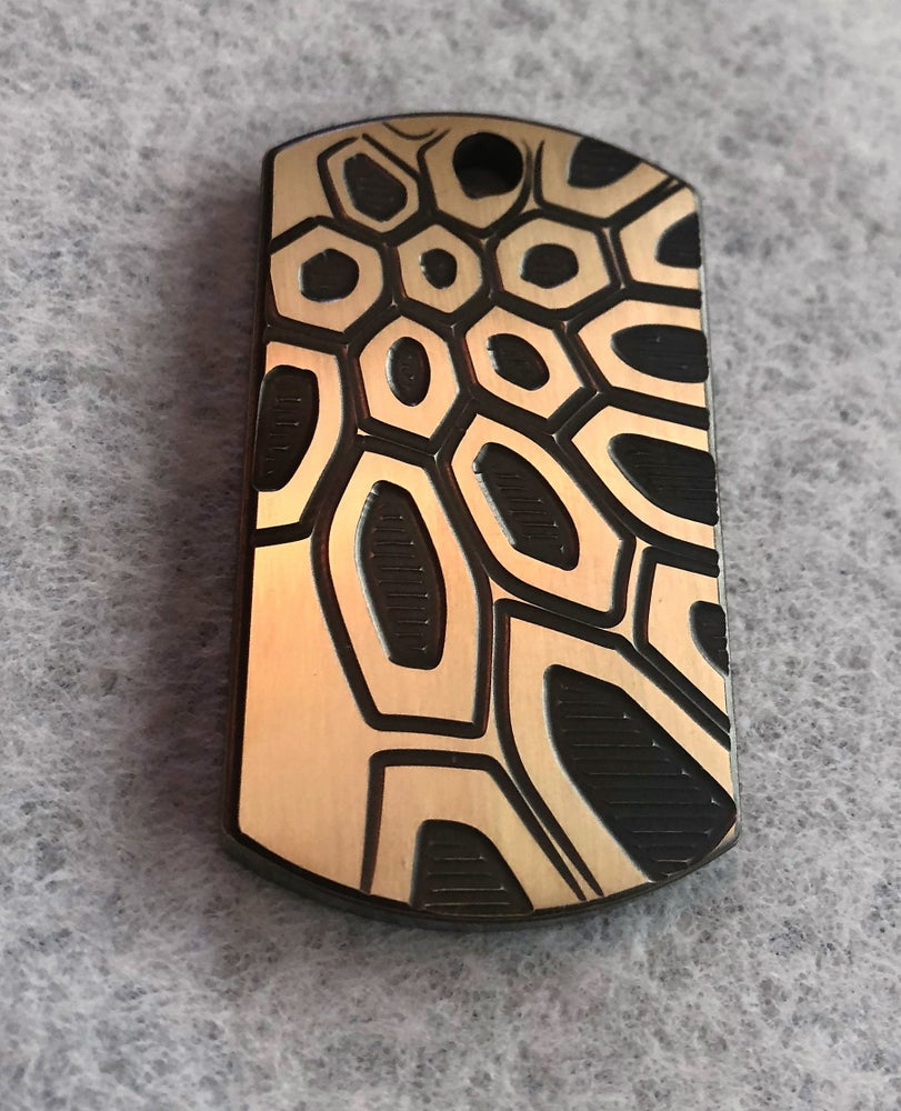 Image of Engraved Brass Dog Tags