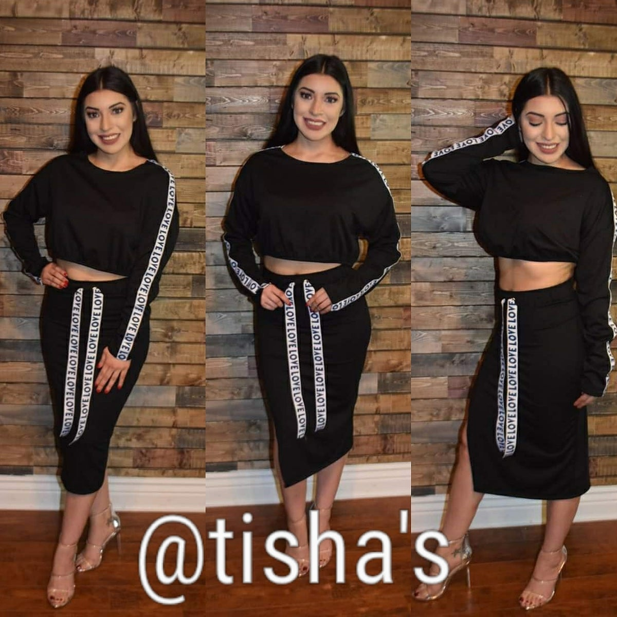 "Image of Two Piece ""Love"" Skirt Set"