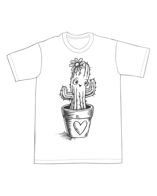 Image of Cute Cactus T-shirt **FREE SHIPPING**