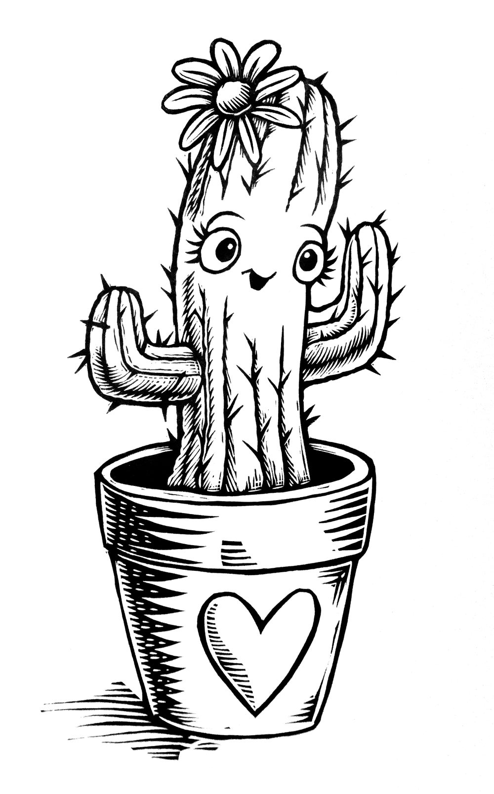 Cute Cactus T-shirt  (A3)**FREE SHIPPING**