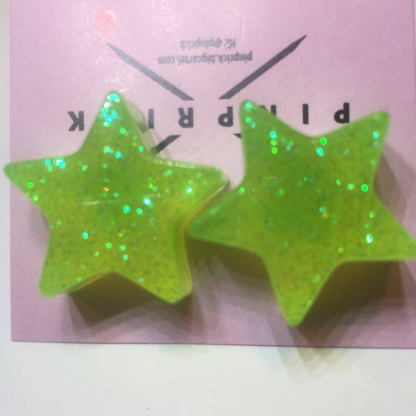 Image of Giant Green Glitter Galaxy Stars