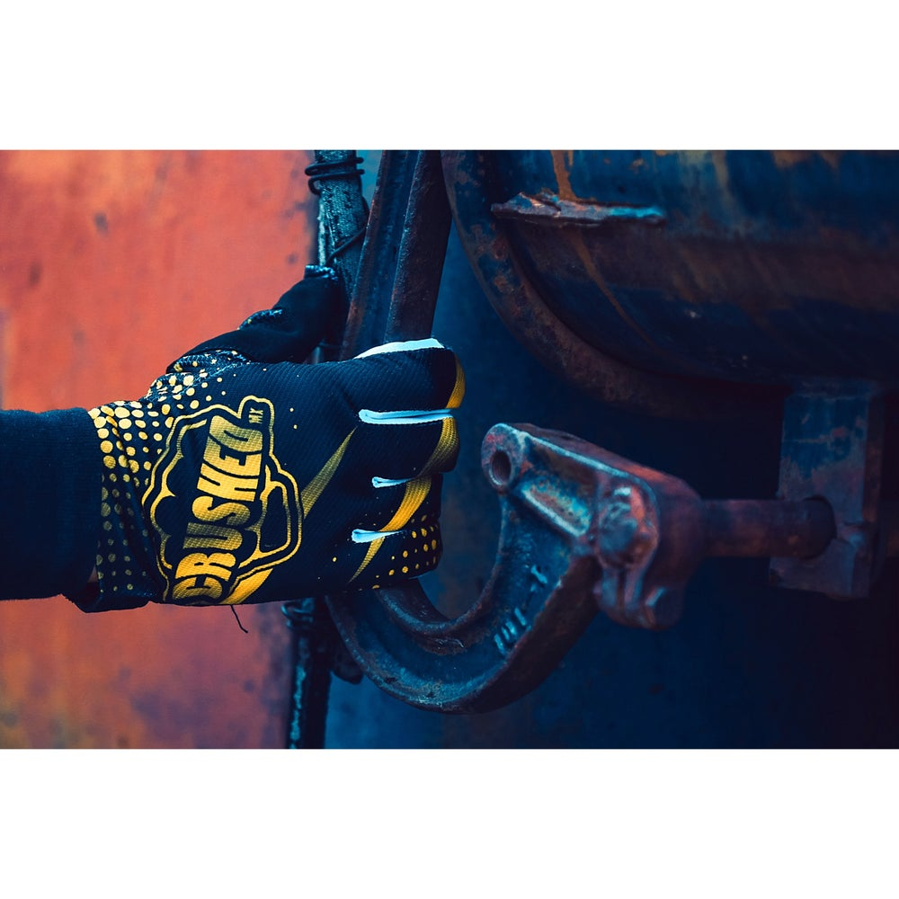 Image of Gold and Black Motocross Glove