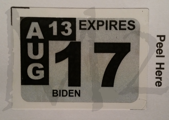 Image of Official License Plate Decal