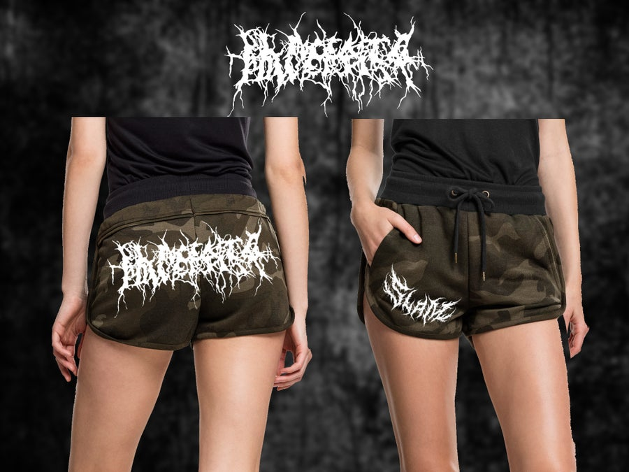 Image of Placenta Girlie Camo Hot Pants