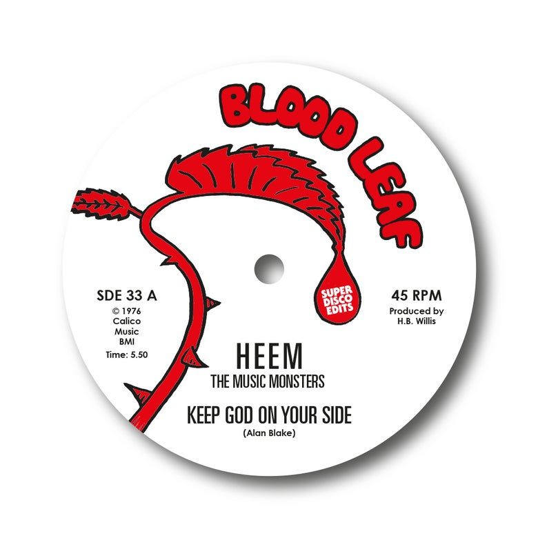 "Image of heem the music monsters ""keep god on your side""/""incognito"" blood leaf"