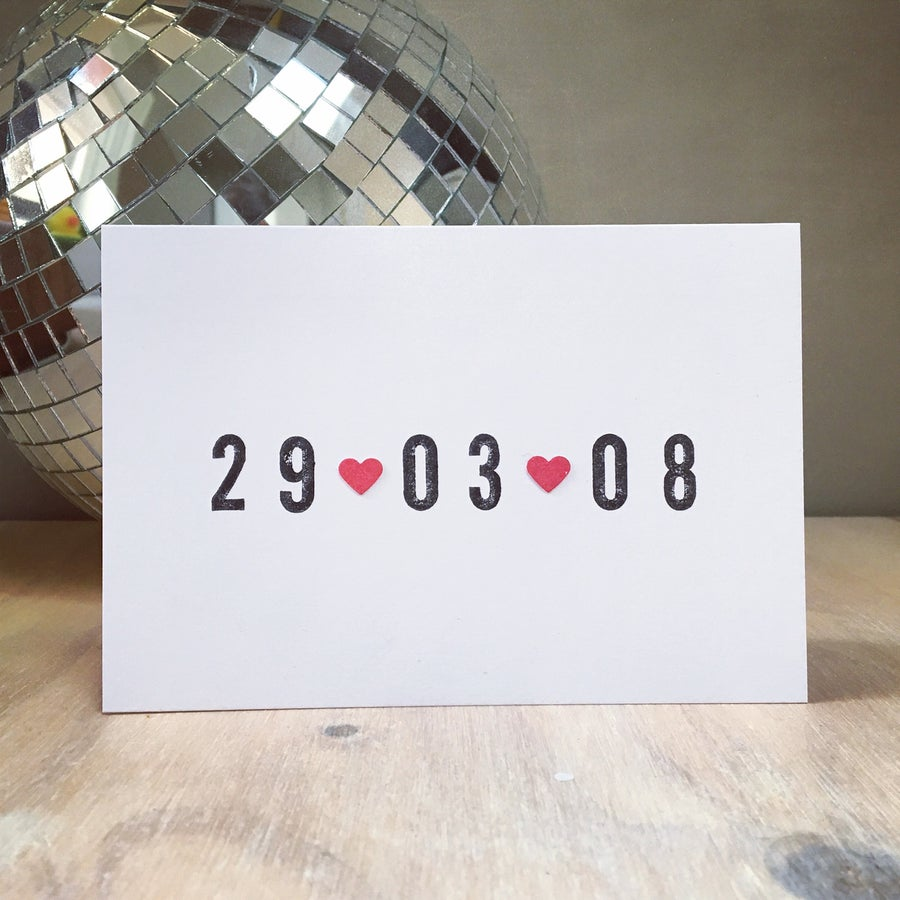 Image of Bespoke Date Cards