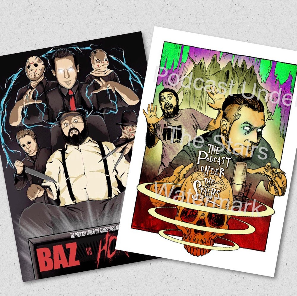 Image of Baz v Horror & Void TPUTS A3 Poster Combo