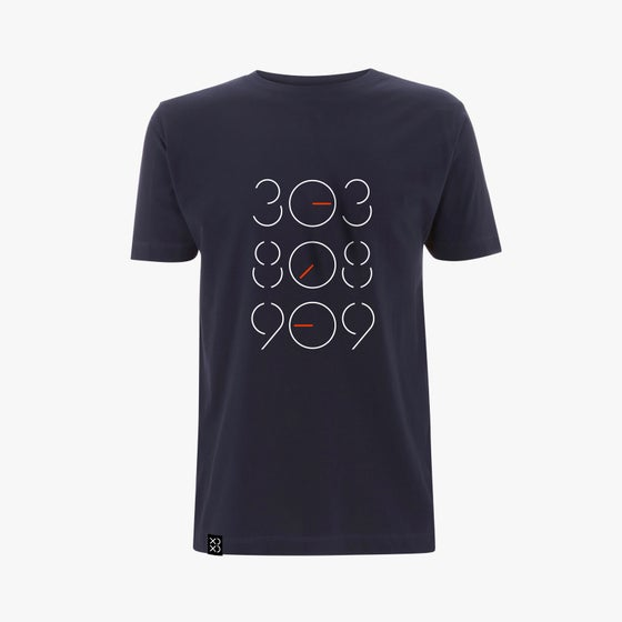 Image of Bedrock 303:808:909 Tweaked T-Shirt Navy