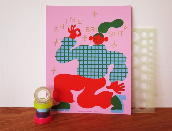 Image of SHINE BRIGHT PRINT / PINK