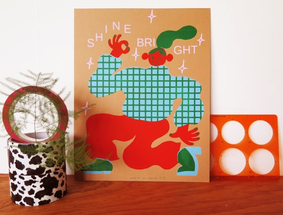 Image of SHINE BRIGHT PRINT / CHOCOLATE
