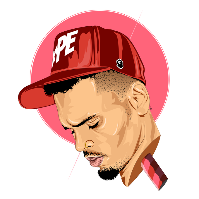 Image of CHRIS BROWN Print
