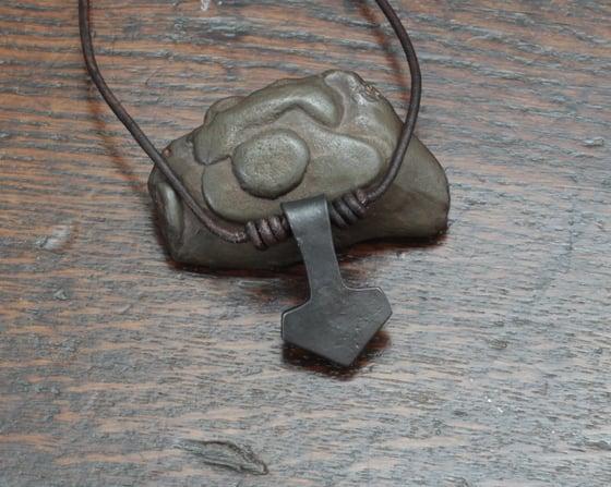 Image of Small Iron Thors hammer pendant