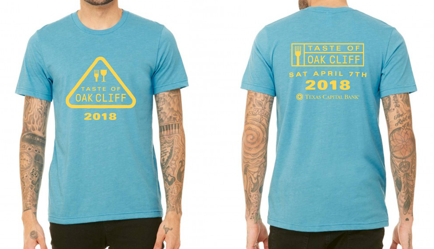 Image of Canvas - Heather Aqua - TOOC 2018 T-shirt
