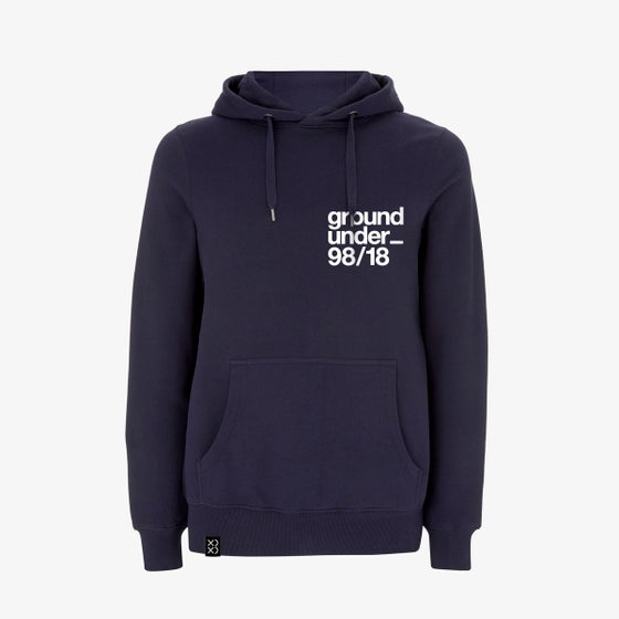 Image of Bedrock ClassiXX Series Ground Under_ 98/18 Pullover Hoody Navy