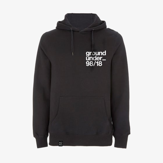 Image of Bedrock ClassiXX Series Ground Under_ 98/18 Pullover Hoody Black