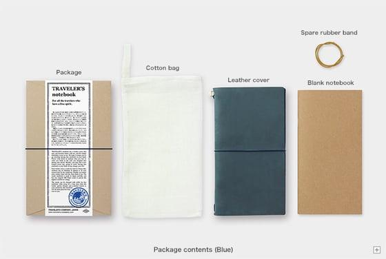 Image of TRAVELER'S Company Blue Regular Traveler's Notebook