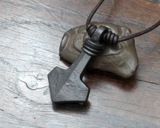 Image of Large Iron Mjolnir Pendant