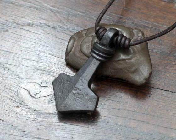 Image of Large Iron Mjolnir Pendant