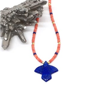 Image of DAKOTA necklace /blue eagle