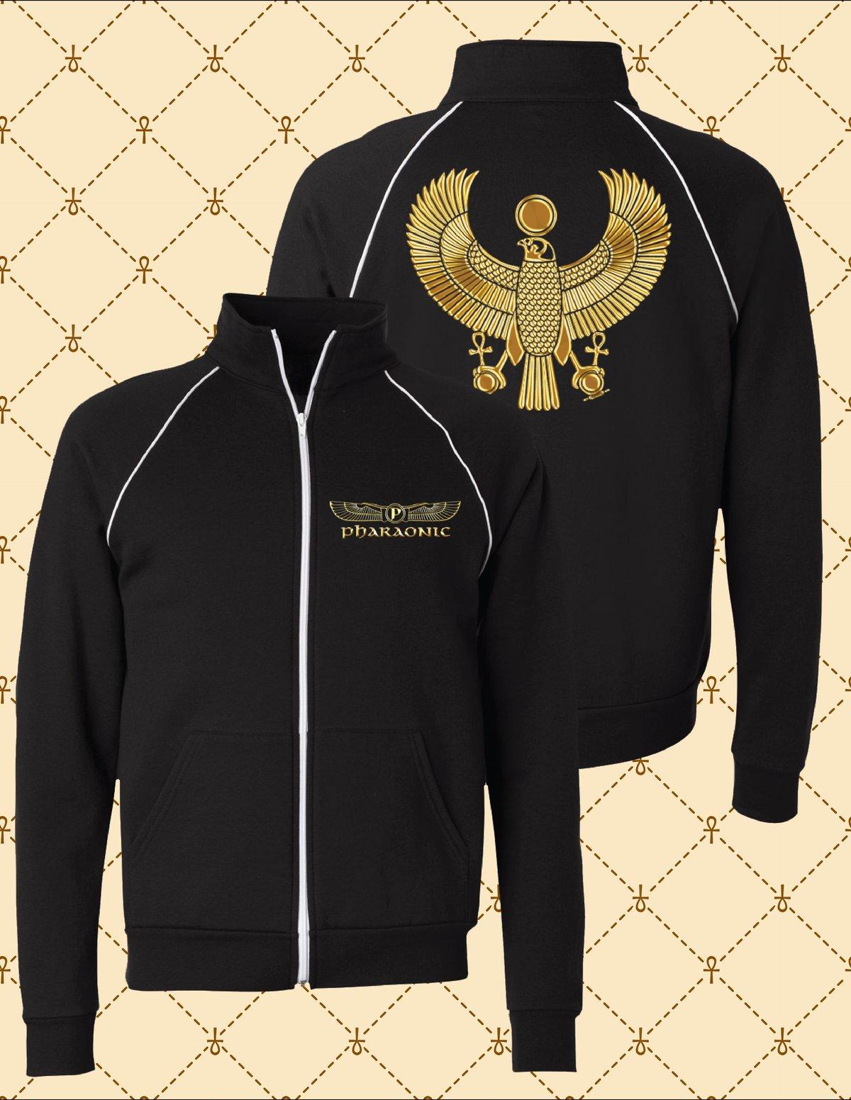 Image of Gold HRU Unisex Piped Fleece Jacket