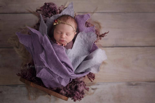 Image of LAVENDER DUO SET Merino Silk Felted Layer with Organic Look (reg. price $98)