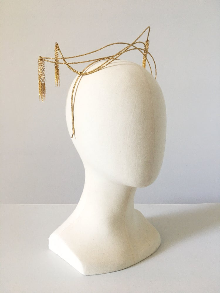 Image of GOLD CHAIN TASSELS