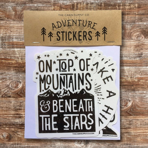 Image of HIKING vinyl sticker pack
