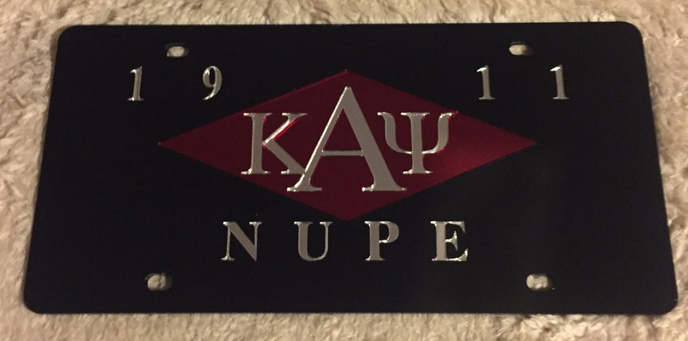Image of Kappa License Plate - Stretch Diamond (Black)