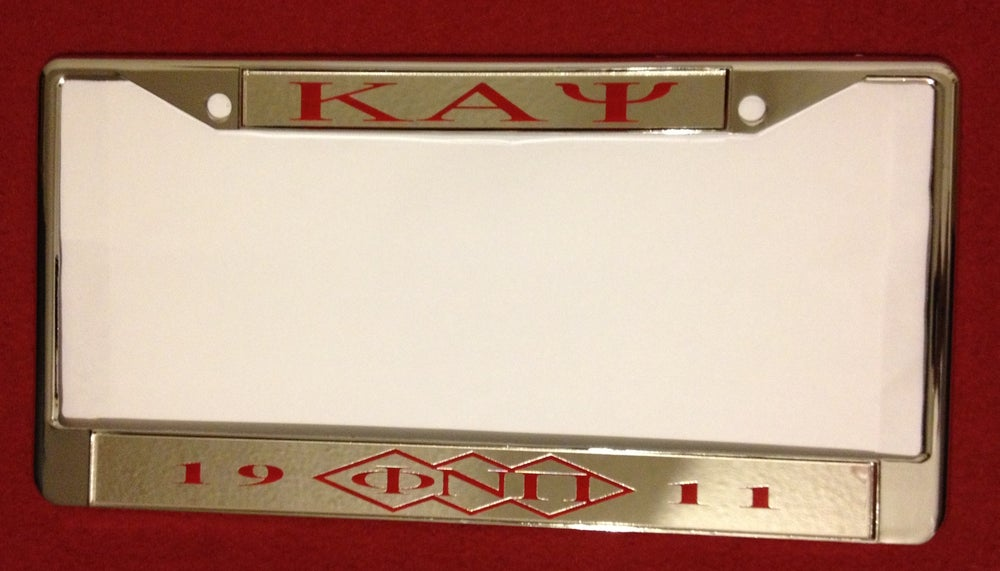 Image of Kappa Alpha Psi Chrome License Plate Frame (KAΨ #2)