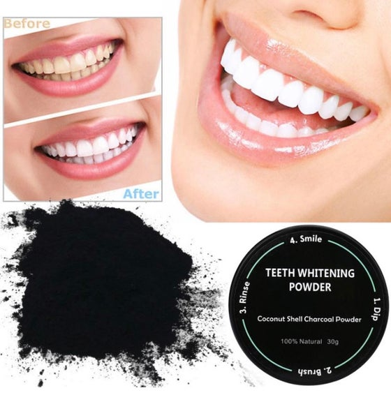 Image of CHARCOAL TEETH WHITENING POWDER