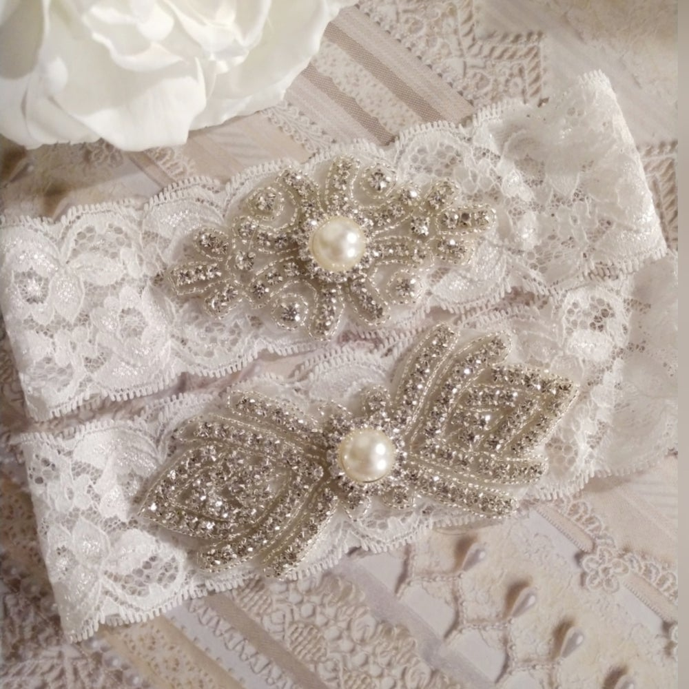 """Meagan"" Bling Garter Set"