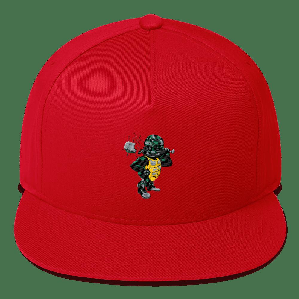 "Image of Black Tortoise "" Army Man"" Snapback (Red)"
