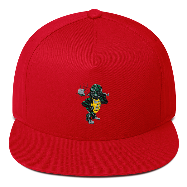 "Image of Black Tortoise "" Army Man"" Snapback (Red)"