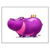 "Image of ""Life Is Better with Friends"" Hippo Print"