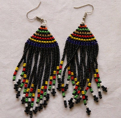 Image of Maasai Calabash hand-made earrings