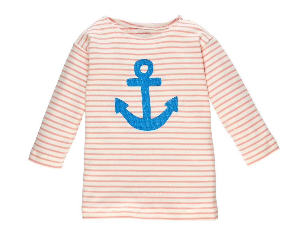 Image of T-Shirt mit Anker rosa