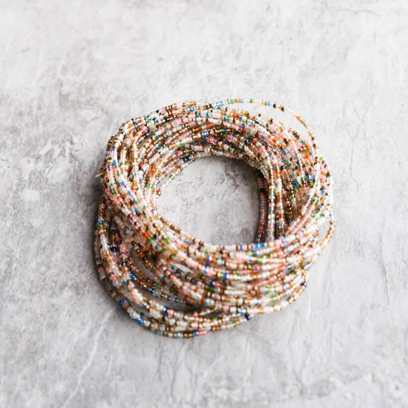 Image of Rainbow waist bead