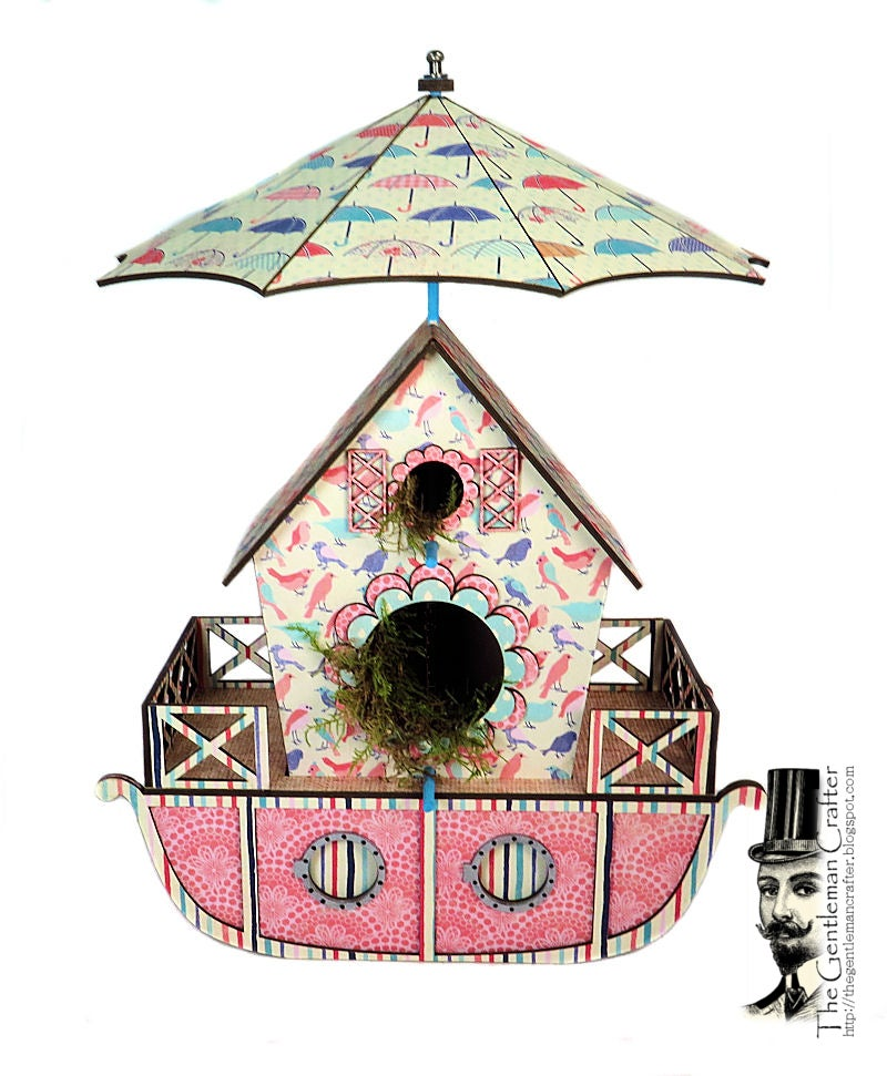 Image of ONE Left....The Bird Houseboat with Tag Mini