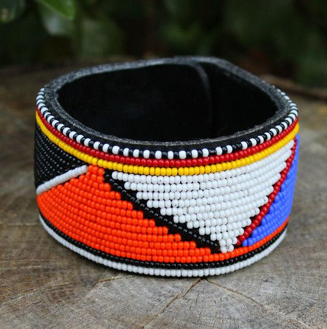 Image of Beaded Cuff Bracelet