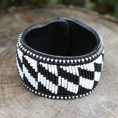 Image of Zebra Maasai cuff bracelet