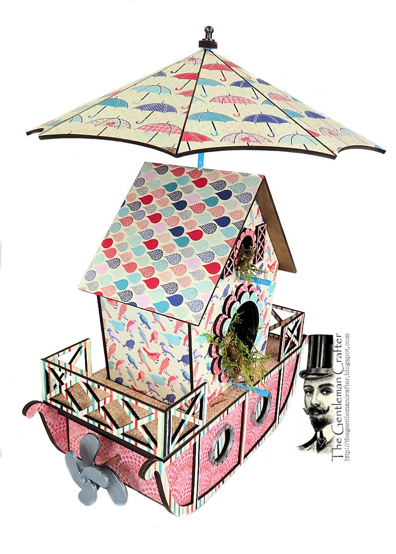 Image of The Bird Houseboat with Tag Mini