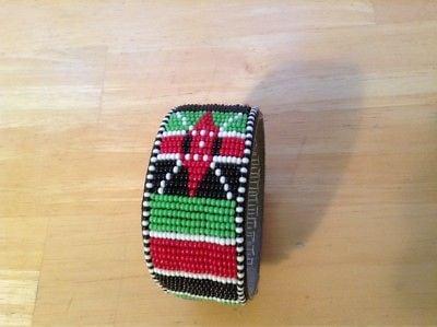 Image of Mount Kenya Maasai Kenyan flag Bracelet